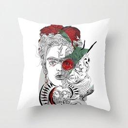 mother frida Throw Pillow