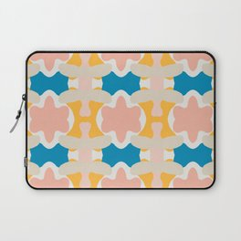 Pastel Colors Blossom Pattern Laptop Sleeve