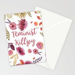 'Feminist Killjoy' cute floral print Stationery Cards