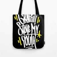 graffiti Tote Bags featuring Graffiti by squadcore