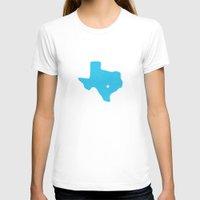 texas T-shirts featuring Texas by Hunter Ellenbarger