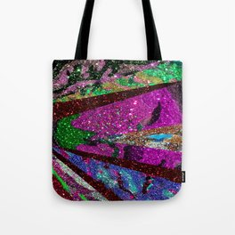 Peacock Mermaid Lavender Abstract Geometric Tote Bag