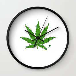 Lit That Shit Up Merry Christmas Happy New Year December 25 T-shirt Design Xmas Holidays Season Wall Clock