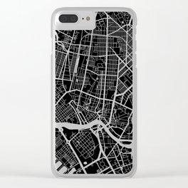 Street MAP Manila // Black&White Clear iPhone Case