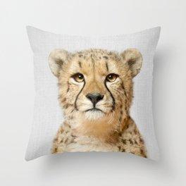 Cheetah - Colorful Throw Pillow