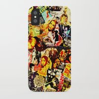 movie posters iPhone & iPod Cases featuring Movie vintage poster by Brigitta