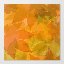 Autumn leaves pastel Canvas Print