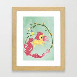 Fluttershy Framed Art Print