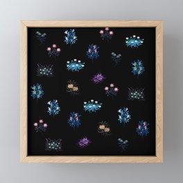 Fantasy flowers Framed Mini Art Print