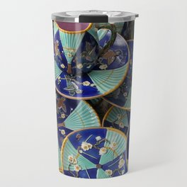 Wedgwood majolica Fan pattern Travel Mug