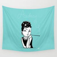audrey Wall Tapestries featuring Audrey by Bach
