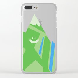 Smiley Mountain Clear iPhone Case