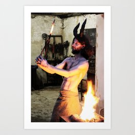 The Blacksmith Devil Art Print
