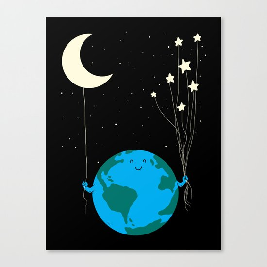 Under the moon and stars Canvas Print