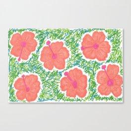 Paradise Blooms Canvas Print