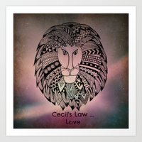 law Art Prints featuring Cecil's Law by MarjolynSpiritArt