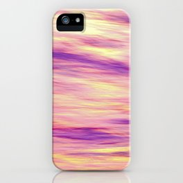 Abstract blurred pink sunset over water iPhone Case