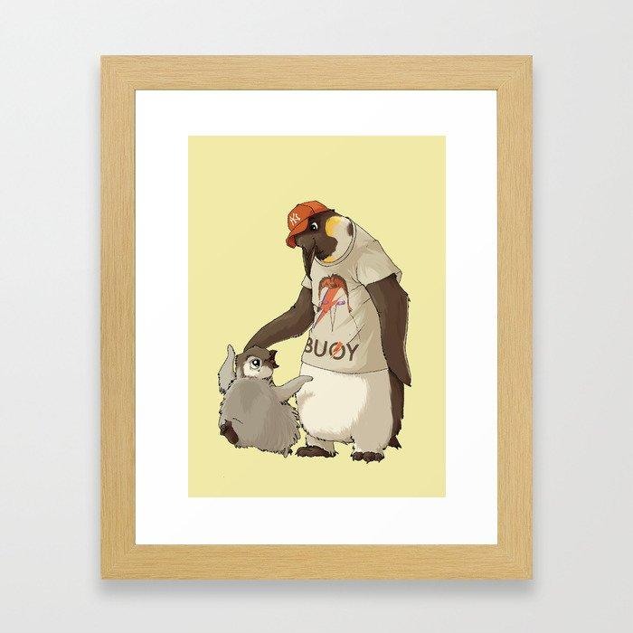 E is for Emperor Penguin Framed Art Print