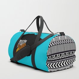 Fro African W&B Duffle Bag