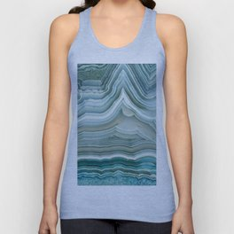 Agate Crystal Blue Unisex Tank Top