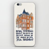 tenenbaum iPhone & iPod Skins featuring Royal Tenenbaum House by Matou en Peluche