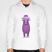 bison Hoodies featuring Bison by Margriet Kats
