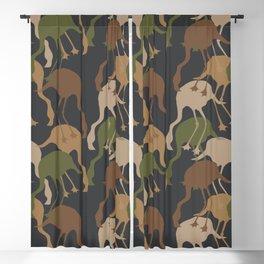 Flamingo Camouflage Pattern Blackout Curtain
