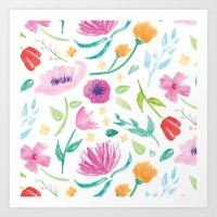 Flouncy Floral Art Print