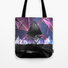 Ethereum Moon and Stars landscape Tote Bag