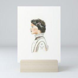 A Study in Valentino Mini Art Print