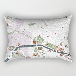 Paris city map minimal Rectangular Pillow