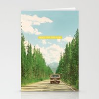 never stop exploring Stationery Cards featuring NEVER STOP EXPLORING IV by Leslee Mitchell