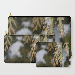 Frozen Pine Tree Leaves Carry-All Pouch