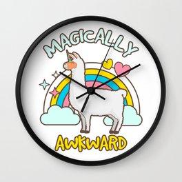 Magically Awkward Llamacorn Llama Unicorn Lovers Wall Clock