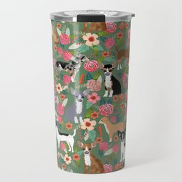Chihuahua mixed coats dog breed floral pet art must have chiwawa lover gifts Travel Mug