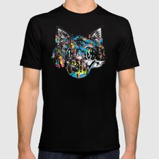 The Creative Cat (color varient) Mens Fitted Tee Black MEDIUM