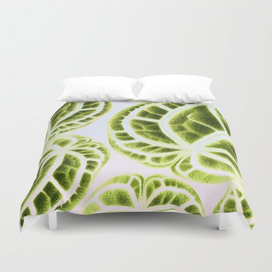 houseplant green Duvet Cover
