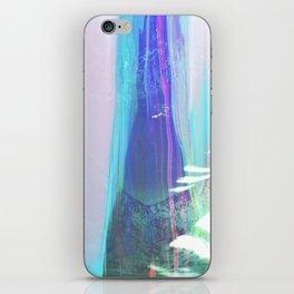 Abstract landscape sweep blue aqua purple iPhone Skin