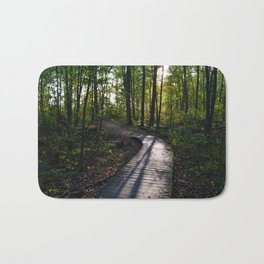 Boardwalk through the forest in southern Ontario Bath Mat
