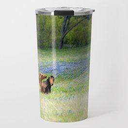 Horses & Bluebonnets Travel Mug