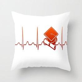 Student Heartbeat Throw Pillow