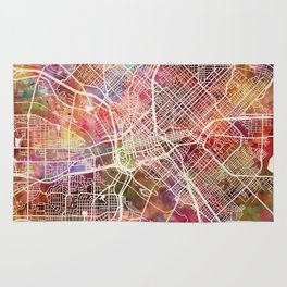 Dallas map 2 Rug