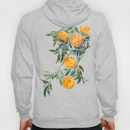 orange watercolor Hoody