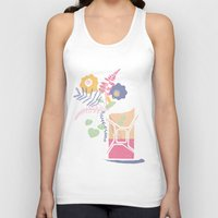 pocket fuel Tank Tops featuring floral fuel by silviarossana