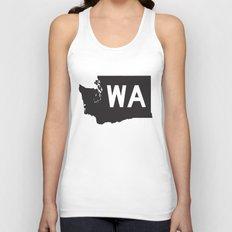 SEATTLE WASHINGTON//FIVE Unisex Tank Top