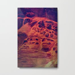 Be brave don't cave Metal Print