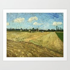 The Ploughed Field by Vincent van Gogh Art Print