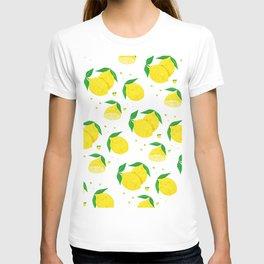Big Lemon pattern T-shirt