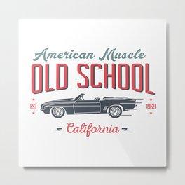 Old School American Muscle Metal Print