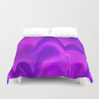 pantone Duvet Covers featuring Waves - Pantone Series by Bella Mahri-PhotoArt By Tina